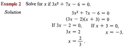 chapte6 Quadratic Equation In Standard Form Examples on