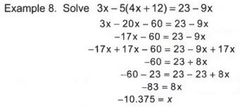 Calculate percentages with step by step math problem solver three possible outcomes to solving an equation a one solution a conditional equation b no solution a contradiction c every number is a solution ccuart Images