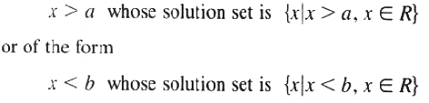 Solution set of linear inequality