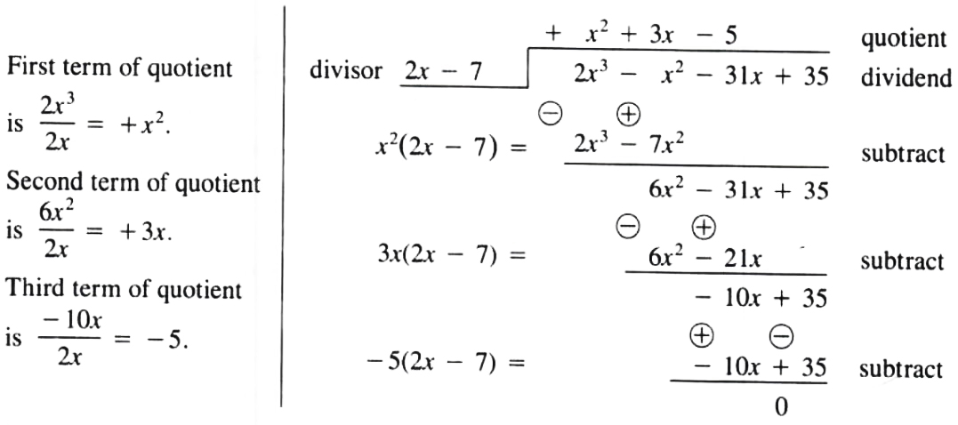 Rearrange problem for division of Polynomials