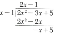 Division of polynomials - 5