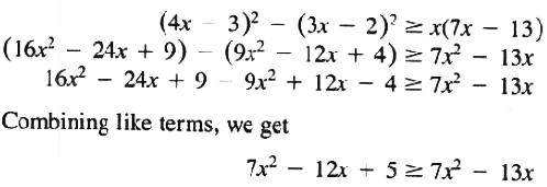 Solution for example of solution set Theorem 1