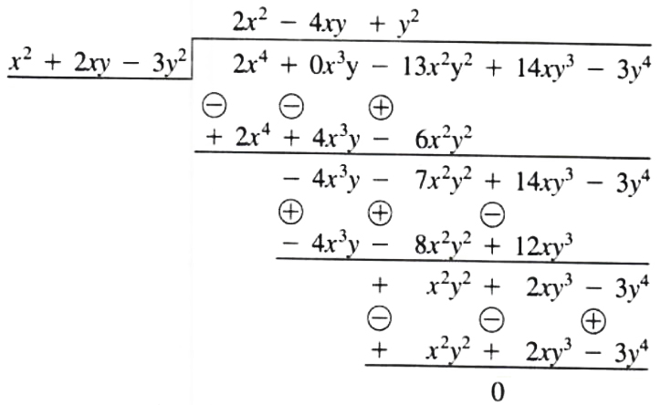 How to simplify problem for Division of polynomials