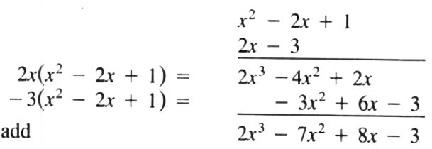 Another way of writing the polynomial multification expression