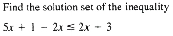 another example for solution set Theorem 1