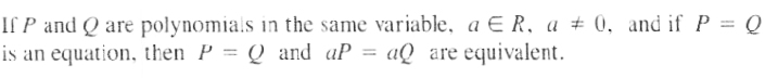 Equivalent Equation Theorem 1