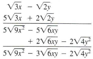 multiplication of radical expression - 1
