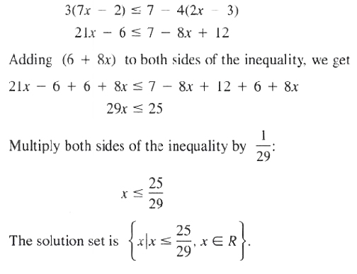 solution for theorem 2 set of inequalities