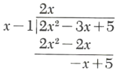 Division of polynomials - 4