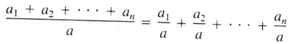 Division of Polynomial by a Monomial