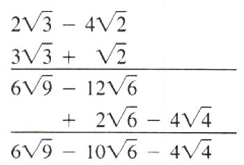 multiplication of radical expression